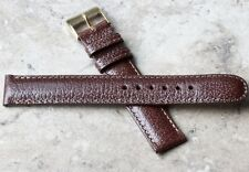 Genuine Water Buffalo classic color 16mm vintage watch band padded stitched NOS
