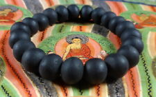 Buddha MALA BEADS Blessed BLACK BRACELET REAL LEK NAM PEE THAI MAGIC STEEL 10 mm
