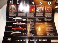 Alfa Romeo MILANO Original Fold Out SALES BROCHURE Milano GTV 6 Spider