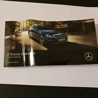 Mercedes E-Klasse W 213 2016 Betriebsanleitung Bordbuch Bedienungsanleitung BA