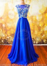 2019 Royal Evening Pageant Prom Tulle Long Evening Ball Formal Gown Dress S 4/6