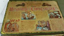 """NEAT Whitmans History of Chocolate , Tin , 9 1/2"""" X 7"""" X 2"""" , Made in England"""