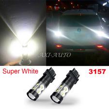 Newest 2x 3157 4157 White 6000K 50W Cree LED Turn Signal Brake Light Bulb 2400LM