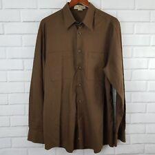 Pronto Uomo Brown Men's Size L Brown Long Sleeve Button Down Dress Shirt