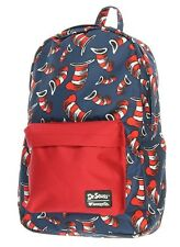 Dr Seuss Cat In The Hat Backpack Loungefly Laptap Bag Blue Red 2018 NEW RELEASE