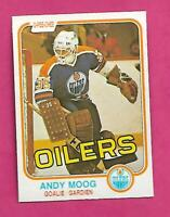 1981-82 OPC # 120 OILERS ANDY MOOG  ROOKIE EX-MT CARD (INV# D3723)