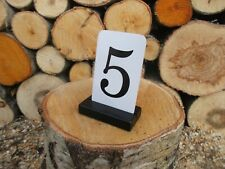 10 BLACK Place card holders, Wood place card holders for Weddings, Black holders