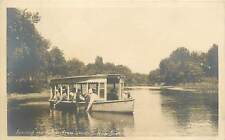 Florida, FL, Silver Springs, Feeding the Fish, Glass Bottom Boat Real Photo PC