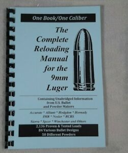 9mm Luger Parabellum Reloading Manual LOADBOOKS USA 2016 Latest Ed. NEW