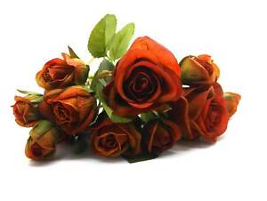 10 x Rosen am Pick wie Echt verschiedene Größen Deko Hochzeit Bastelblumen