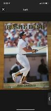 NEW 1990 COSTACOS MLB JOSE CANSECO BASH & DASH POSTER ORIGINAL oakland a's