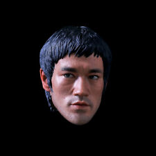 DJ-CUSTOM 1/4 Bruce Lee Peace Ver. Head Sculpt For Game of Death Figure Body Toy
