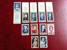 Lot de 11 timbres oblitérés 1951/54 Lot 9a