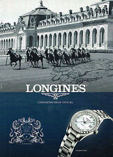 PUBLICITE ADVERTISING 045  2014  LONGINES montres CONQUEST CLASSIC prix DIANE