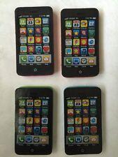 "4 Smart Phone Eraser Blue, Orange, Green, Pink All With Black 1 1/4""x2 1/4""x1/4"""