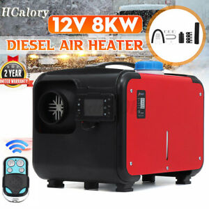 HCalory 8KW 12V Air Diesel Heater LCD Monitor Remote Silencer Boat Motorhome RV