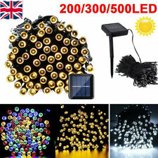 Waterproof Outdoor Garden Solar Fairy Lights String 100-500 LED Christmas Party