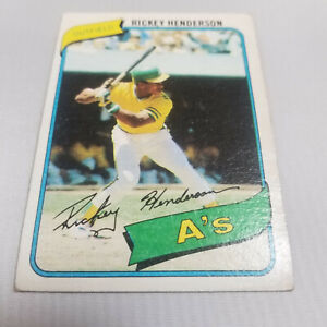 Topps 1980 Rickey Henderson #482 Rookie Card