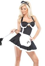 Sexy Adult Halloween Diva Retro French Maid Costume Size S/M