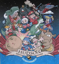 Hudson Entertainment (Adventure Island, Bomberman, Bonk) Artwork Signed Poster!