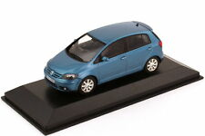 1:43 VW Golf V Plus 2005 newriverblue azul Blue-Dealer-Edition OEM Minichamps