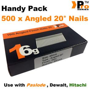 45mm 16 Gauge ANGLED 20° Nails - 500 nail pack for Dewalt ,Paslode ,Hitachi