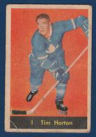 TIM HORTON 60-61 PARKHURST 1960-61 NO 1 VG+  9644