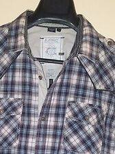 Buffalo David Bitton Plaid Western Darted Detailed Button-Front L/S Shirt Sz. XL