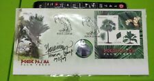 Malaysia 2009 Palm Trees MS stamp FDC designer sign inlaid Palm Oil Pendant Coin