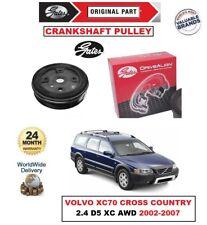 GATES CRANKSHAFT BELT PULLEY for VOLVO XC70 CROSS COUNTRY 2.4 D5 XC AWD 2002-07