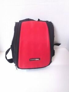 Nintendo DS Carrying Bag Black & Red Mini Backpack Accessory Bag Fast Ship