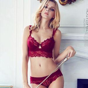 New Lace Underwire Gather Brassiere Women Bras Set Lingerie Push Up Underwear BH