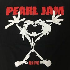 PEARL JAM VTG 90s T-SHIRT XL ALIVE TAGLESS TOUR TRUE VINTAGE BLACK EXTRA LARGE