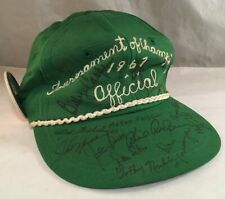 1967 SIGNED TOURNAMENT OF CHAMPIONS PGA GOLF HAT ARNOLD PALMER JACK NICKLAUS +