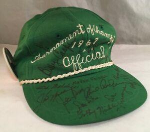 1967 SIGNED TOURNAMENT OF CHAMPIONS PGA GOLF HAT ARNOLD PALMER JACK NICKLAUS +