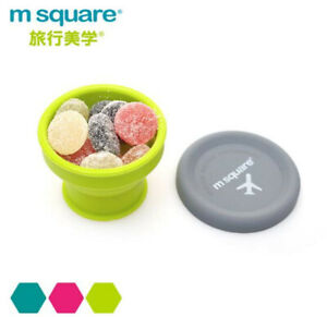 Silicone Folding Cup Candy Color Water Drink Coffee Cup Outdoor Travel Camping