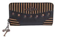 6f77a4920cce Steampunk Brown Black Stripes Wild West Key Charm Zip Around Wallet