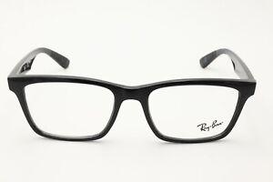 Ray Ban RB 7025 2000 Shiny Black size 53-17-145 Rx Eyeglasses B