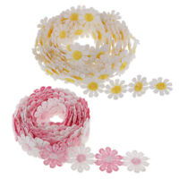 6Yd Daisy Flower Lace Edge Trim Ribbon Edging Trimmings Embroidered Applique