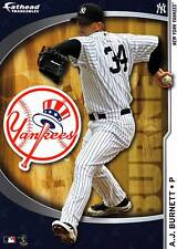 AJ BURNETT Fathead Tradeables 5x7 Yankees Logo Sticker