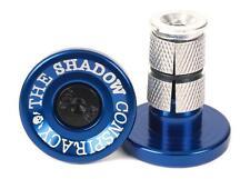 TSC The Shadow Conspiracy BMX Deadbolt Bar Ends Plugs Alloy Perma Blue