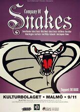 Company Of Snakes 2001 Rare Original Sweden Concert Promo Poster