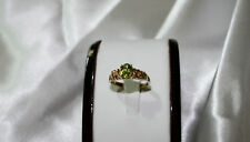 Natural peridot gemstone 9 carat yellow gold ring