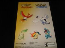 3 LOT POKEMON HEARTGOLD SOULSILVER STICKER SHEET TOYS R US PROMO EVENT 2010 RARE