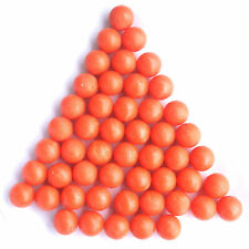New .68 cal Reusable Rubber Training Balls Paintballs Orange - 100 Pcs