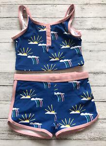 NWT Hanna Andersson Blue Rainbow Tankini Swimsuit 110 Cm 5 Y