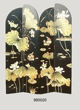 Chinesischer Paravent, 4 Elemente a  46 x 214 cm, Motiv Lotos