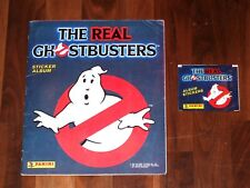 The Real Ghostbusters 1988 Complete Panini Sticker album & Panini sticker packet