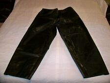 REAL BLACK RUBBER RAIN PANTS /BELT LOOPS   SIZE LARGE