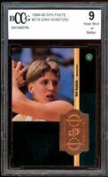 1998-99 SPX #219 Dirk Nowitzki Rookie Card BGS BCCG 9